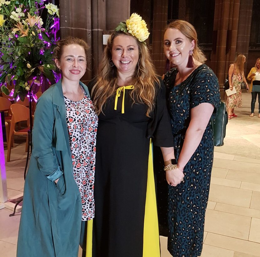Becky Lois Burns, Holly Tucker and Anna Bell in Manchester